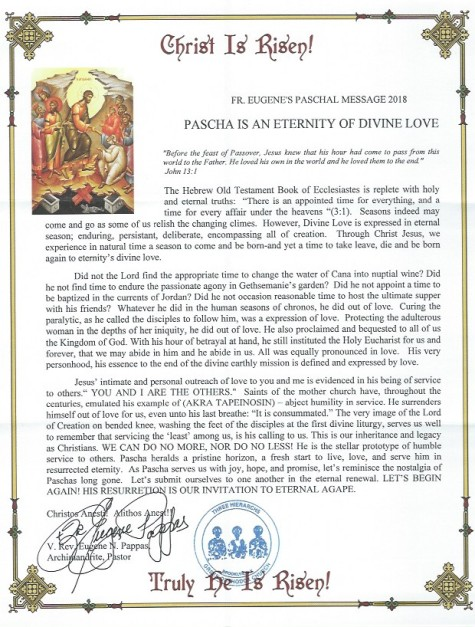 Fathers' Pascual message